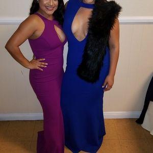 Semiformal/Formal Royal Blue Dress